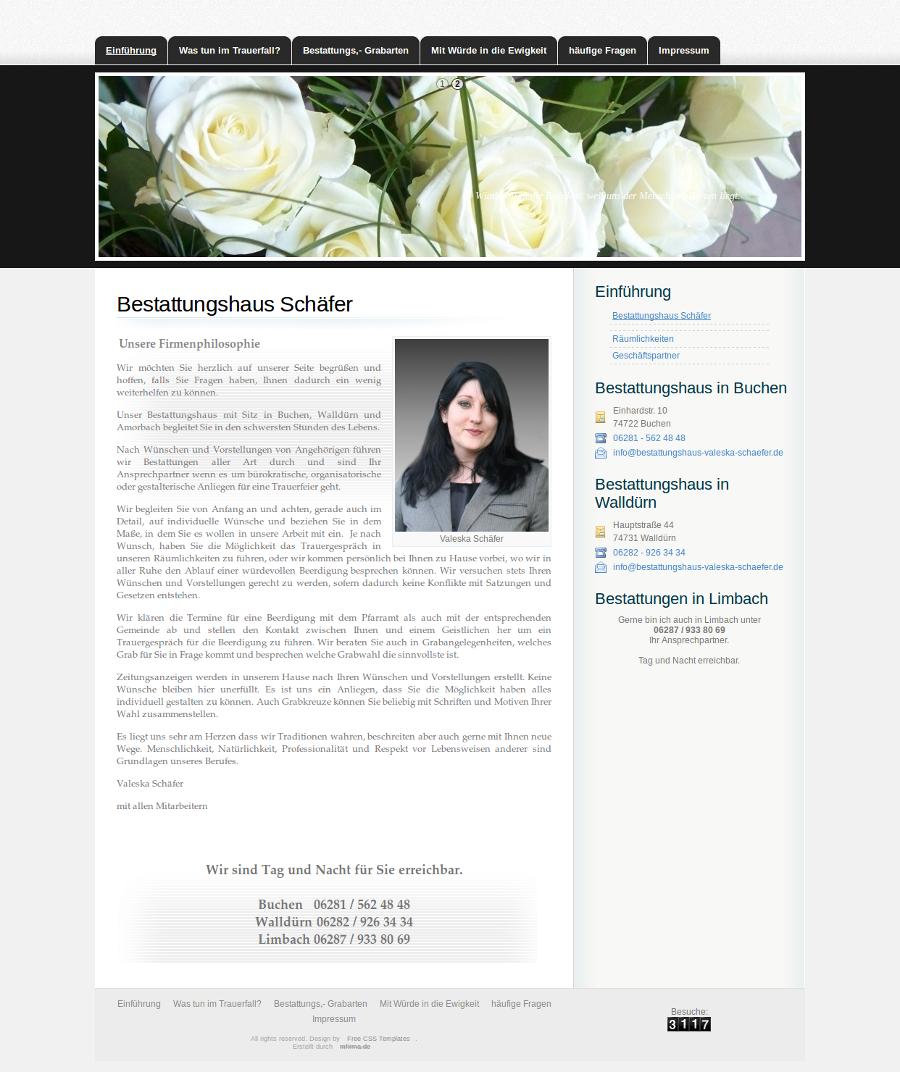 Beispiel-Seite für Bestattungshaus