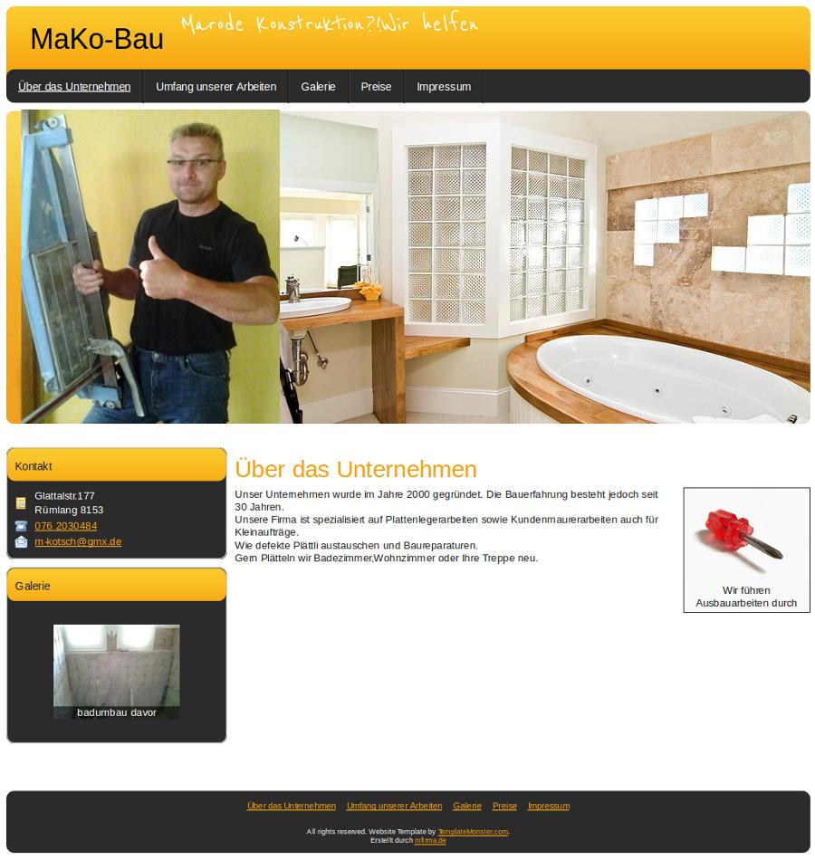 Beispiel-Seite für Bauunternehmen