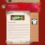 Beispiel-Seite für ein kreatives Geschäft - shirt-painting