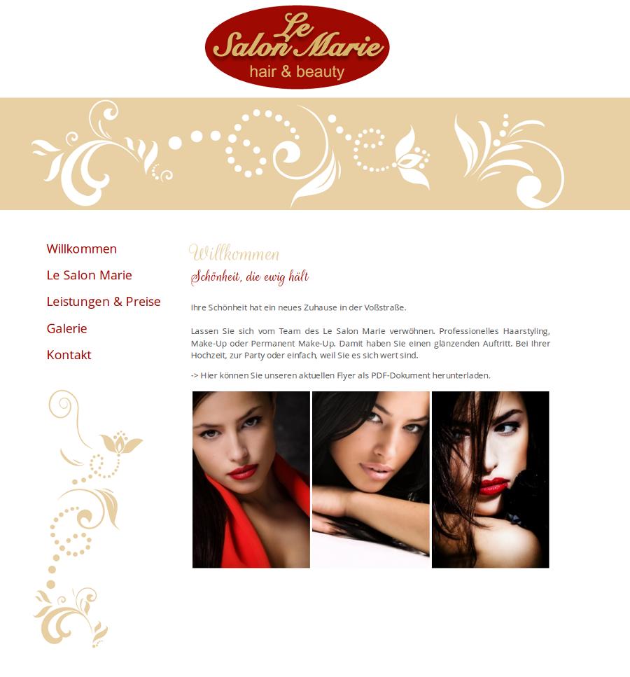 Beispiel-Seite für Schönheitssalon