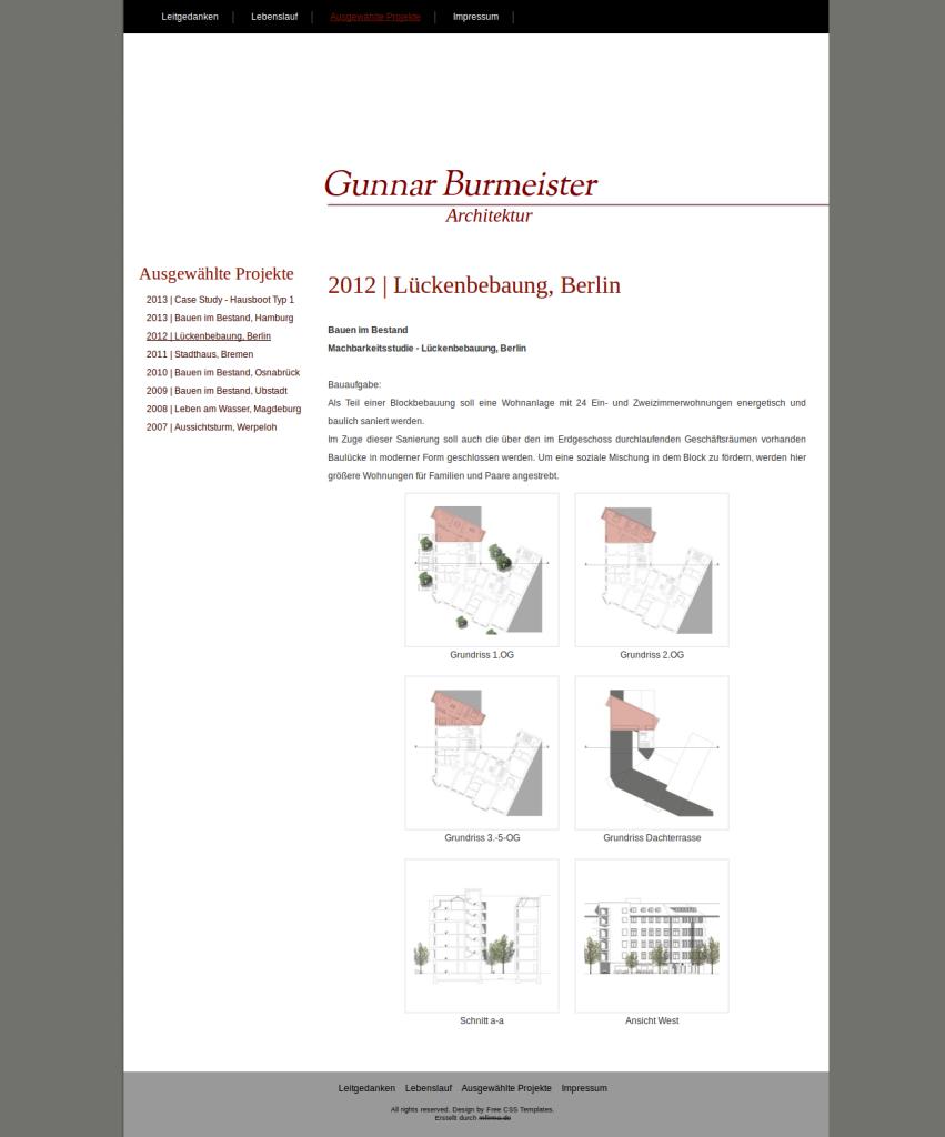 Beispiel-Seite für einen Architekt