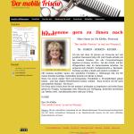 Beispiel-Seite für einen Friseur