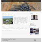 Beispiel-Seite für eine Zimmerei und Bauelemente