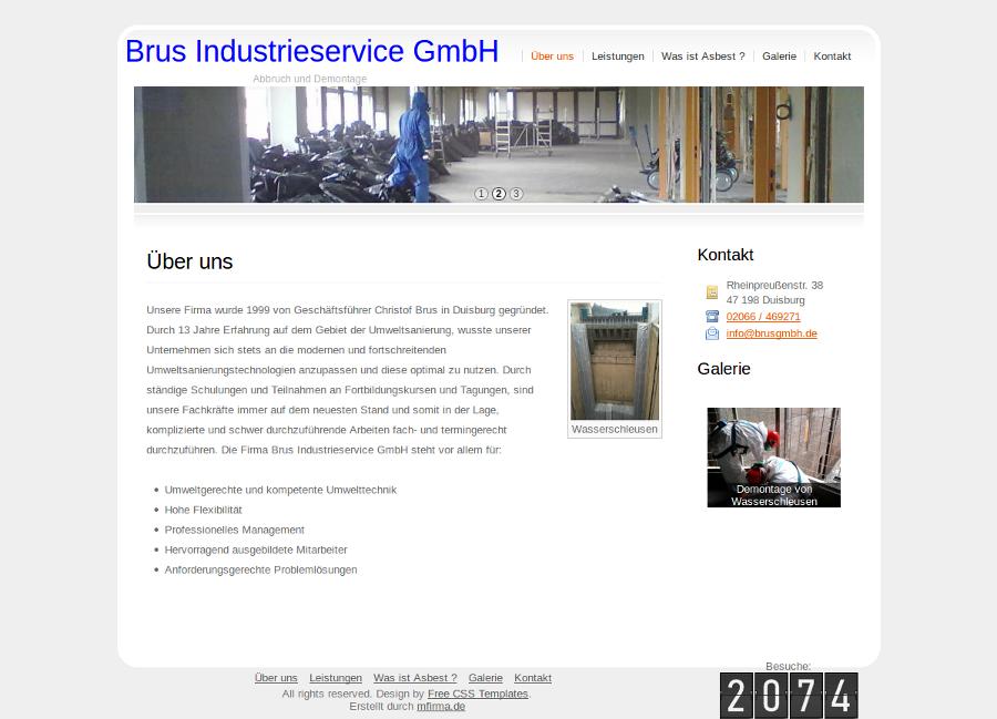Beispiel-Seite für ein Unternehmen, das sich mit der Umweltsanierung beschäftigt