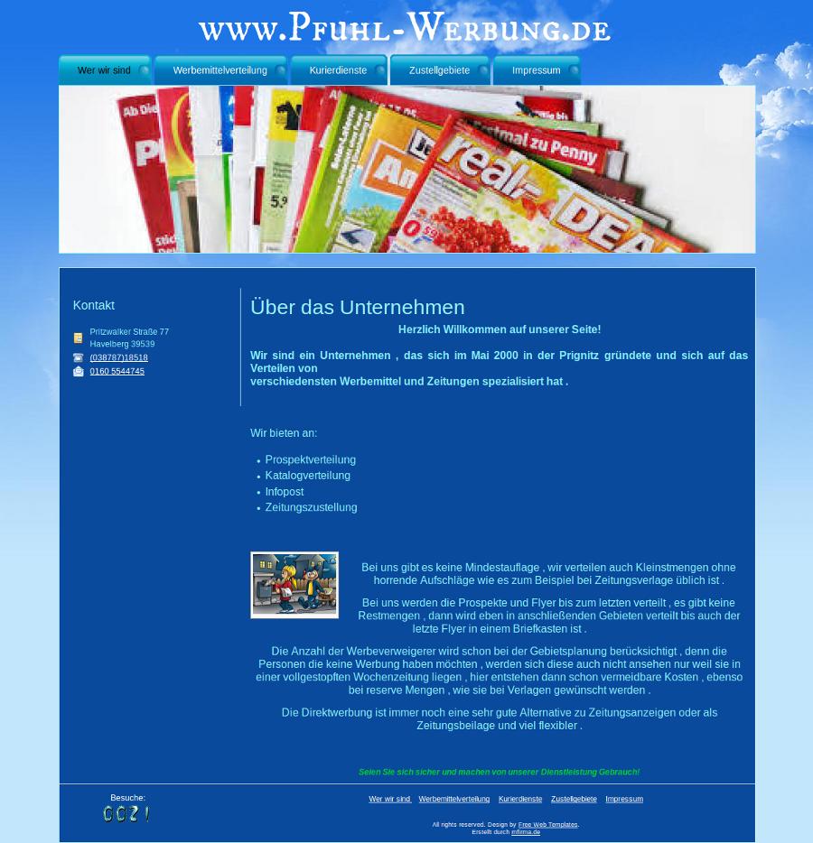 Beispiel-Seite für Katalog- und Prospektverteilung