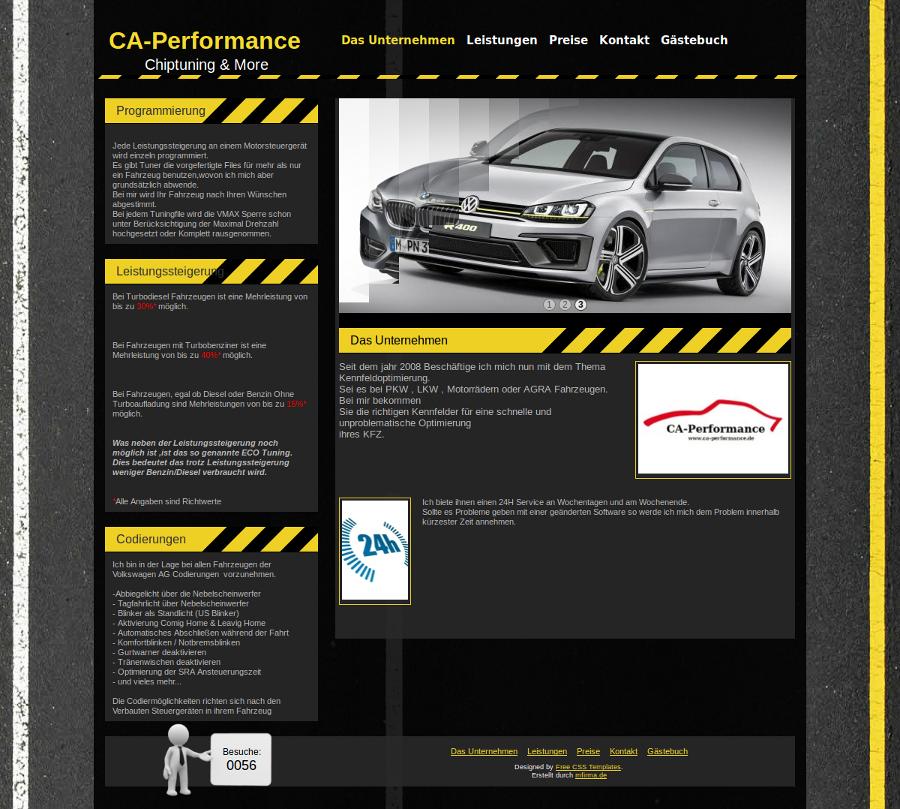 Beispiel-Seite für einen Chiptuning Service
