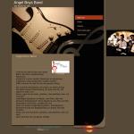 Homepage der Musikband