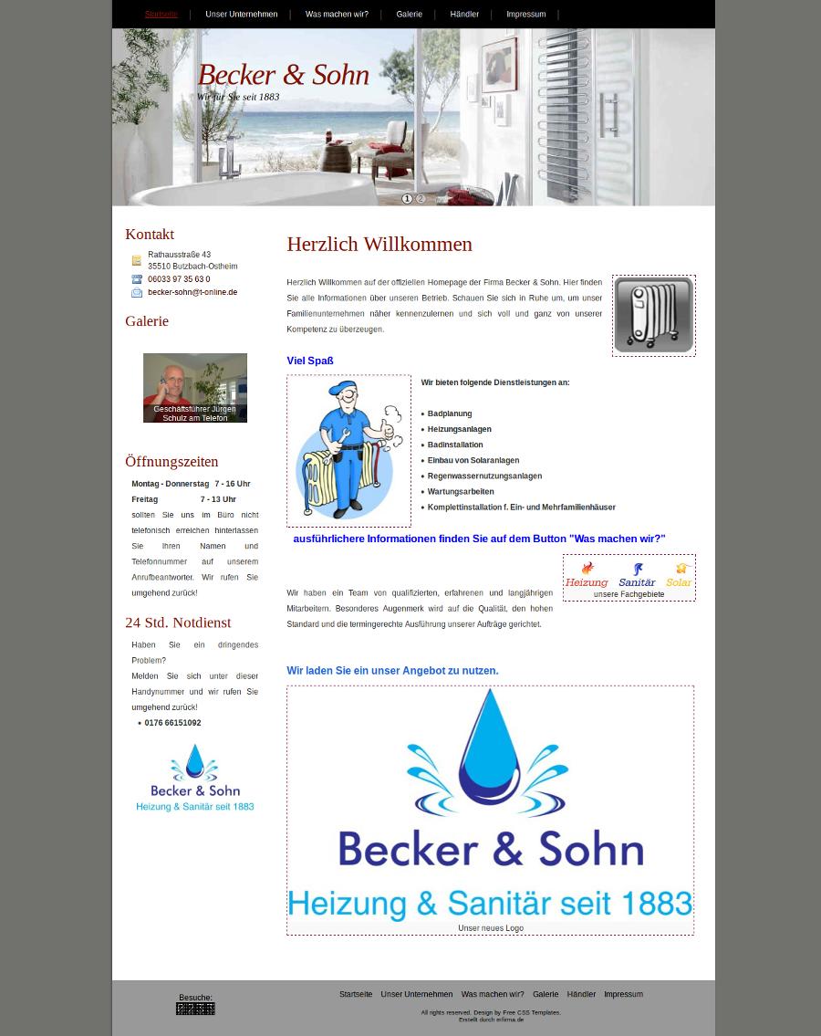 becker sohn heizung sanitär